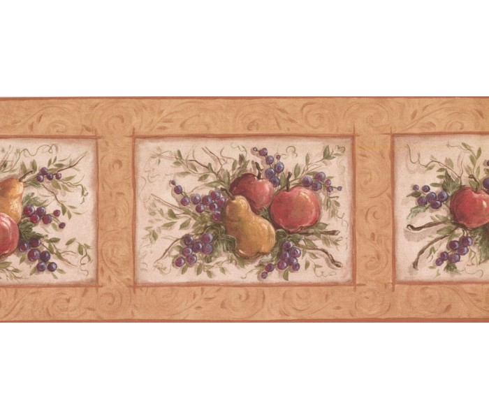 New  Arrivals Wall Borders: Fruits Wallpaper Border KM7866B