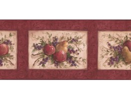 Prepasted Wallpaper Borders - Fruits Wall Paper Border KM7867B