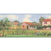 New  Arrivals Wall Borders: Garden Wallpaper Border KR2200B