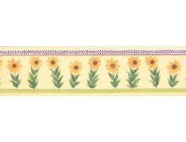 Prepasted Wallpaper Borders - Sunflower Wall Paper Border KR2213B
