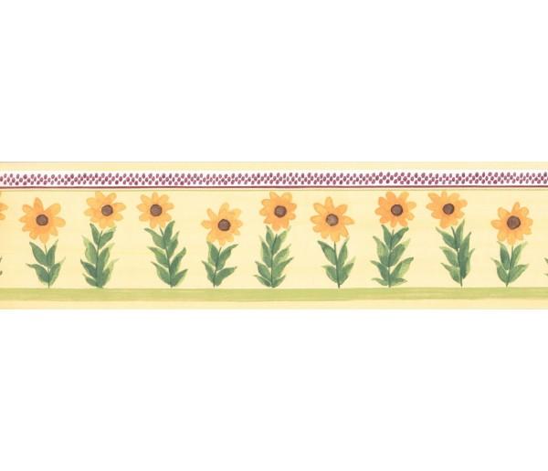 New  Arrivals Wall Borders: Sunflower Wallpaper Border KR2213B
