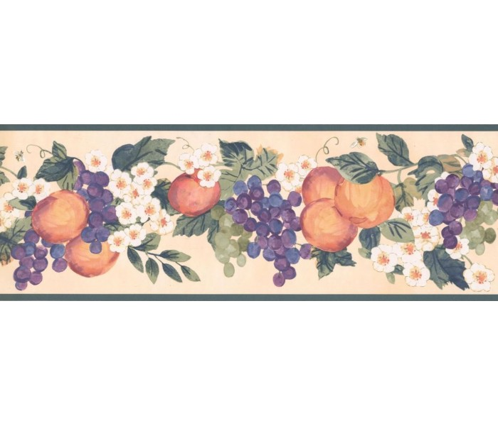 New  Arrivals Wall Borders: Fruits Wallpaper Border KR2257B