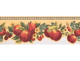 7 in x 15 ft Prepasted Wallpaper Borders - Fruits Wall Paper Border KR2282B