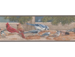 7 in x 15 ft Prepasted Wallpaper Borders - Birds Wall Paper Border KR2343B