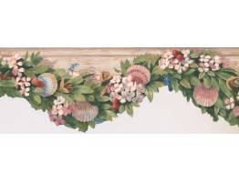 7 in x 15 ft Prepasted Wallpaper Borders - Fruits Wall Paper Border KR2504B