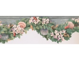 7 in x 15 ft Prepasted Wallpaper Borders - Fruits Wall Paper Border KR2505B