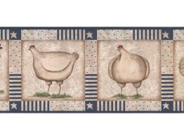 9 in x 15 ft Prepasted Wallpaper Borders - Roosters Wall Paper Border KR2520B