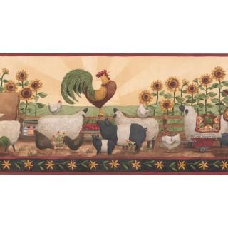 10 1/4 in x 15 ft Prepasted Wallpaper Borders - Garden Wall Paper Border KR2535B