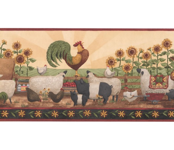 New  Arrivals Wall Borders: Garden Wallpaper Border KR2535B