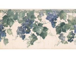 Prepasted Wallpaper Borders - Grapes Wall Paper Border KR2554B