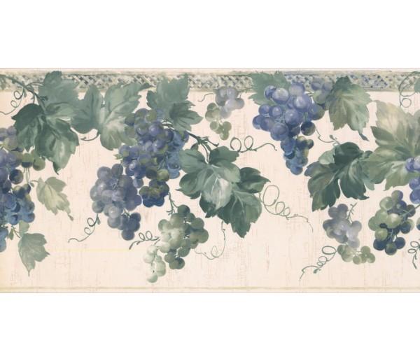 New  Arrivals Wall Borders: Grapes Wallpaper Border KR2554B