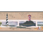 New  Arrivals Wall Borders: Light House Wallpaper Border KR2580B