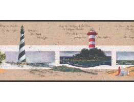 Prepasted Wallpaper Borders - Light House Wall Paper Border KR2580B