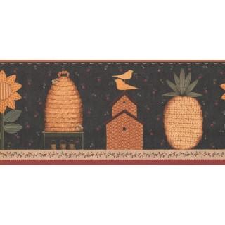 9 1/4 in x 15 ft Prepasted Wallpaper Borders - Garden Wall Paper Border KR2610B