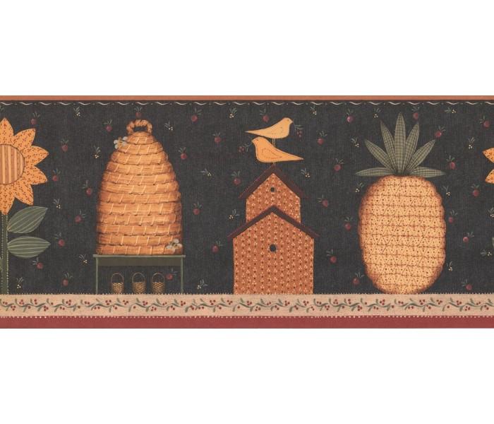 New  Arrivals Wall Borders: Garden Wallpaper Border KR2610B