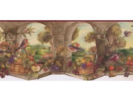 Prepasted Wallpaper Borders - Garden Wall Paper Border KS76858DLL