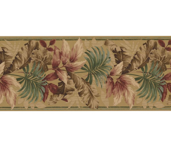 New  Arrivals Wall Borders: Leaves Wallpaper Border KS76889