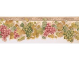 Prepasted Wallpaper Borders - Grapes Wall Paper Border KT003113B