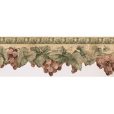 Prepasted Wallpaper Borders - Grapes Wall Paper Border KT73361DC