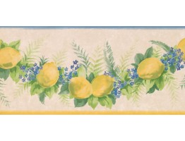 9 1/4 in x 15 ft Prepasted Wallpaper Borders - Fruits Wall Paper Border KT74984