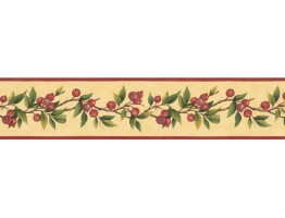 Prepasted Wallpaper Borders - Fruits Wall Paper Border KT77911