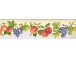Prepasted Wallpaper Borders - Fruits Wall Paper Border KT77919DC