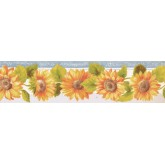 New  Arrivals Wall Borders: Sunflower Wallpaper Border KT77921DC