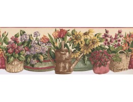 Prepasted Wallpaper Borders - Garden Wall Paper Border KT77927DC