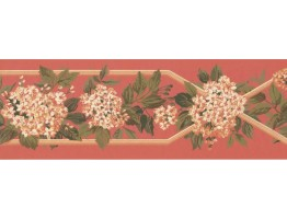 Prepasted Wallpaper Borders - Floral Wall Paper Border KT8300B