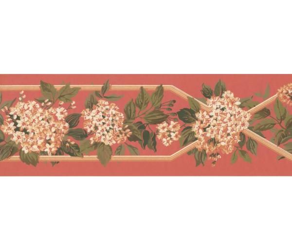 New  Arrivals Wall Borders: Floral Wallpaper Border KT8300B