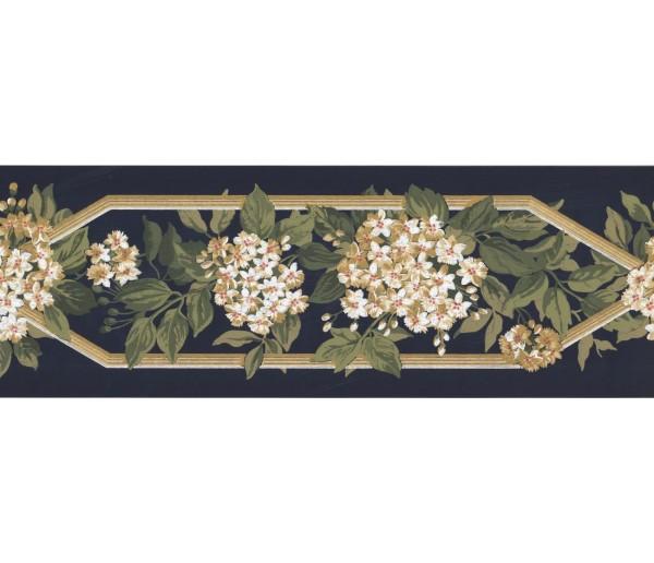 Prepasted Wallpaper Borders - Floral Wall Paper Border KT8302B