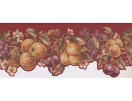 Prepasted Wallpaper Borders - Fruits Wall Paper Border KT8324B