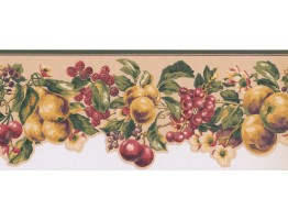 Prepasted Wallpaper Borders - Fruits Wall Paper Border KT8325B