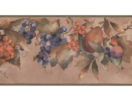 Prepasted Wallpaper Borders - Fruits Wall Paper Border KT8354B