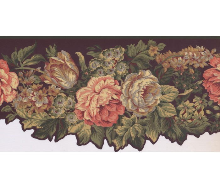 New  Arrivals Wall Borders: Floral Wallpaper Border KT8388B