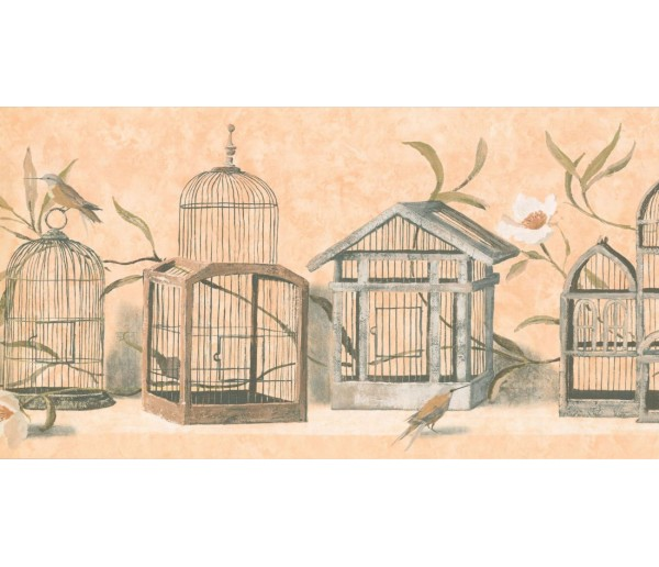 New  Arrivals Wall Borders: Birds Cage Wallpaper Border KT8467B