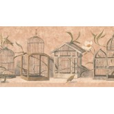 New  Arrivals Wall Borders: Birds Cage Wallpaper Border KT8468B