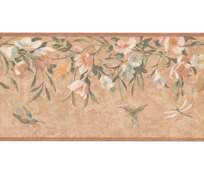 New  Arrivals Wall Borders: Floral Wallpaper Border KT8469B