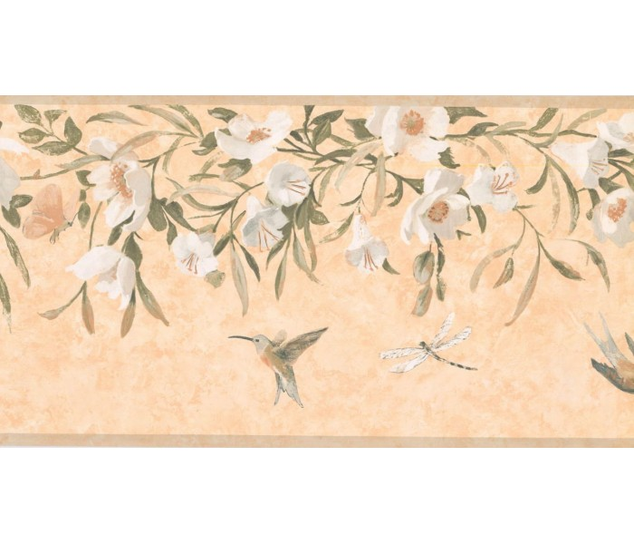 New  Arrivals Wall Borders: Floral Wallpaper Border KT8474B