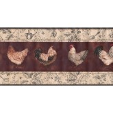 New  Arrivals Wall Borders: Roosters Wallpaper Border KT8507B