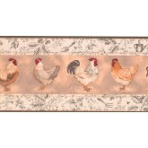 New  Arrivals Wall Borders: Roosters Wallpaper Border KT8510B