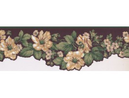7 in x 15 ft Prepasted Wallpaper Borders - Floral Wall Paper Border KT8559B