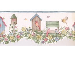 9 in x 15 ft Prepasted Wallpaper Borders - Birds Cage Wall Paper Border LA15012DB