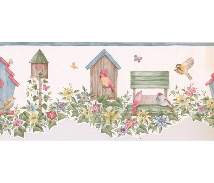 New  Arrivals Wall Borders: Birds Cage Wallpaper Border LA15012DB