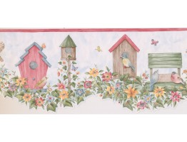 9 in x 15 ft Prepasted Wallpaper Borders - Birds Cage Wall Paper Border LA15013DB
