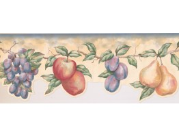 Prepasted Wallpaper Borders - Fruits Wall Paper Border LA15016DB