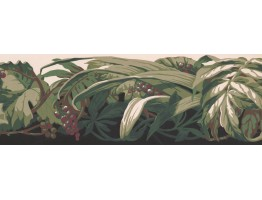 Prepasted Wallpaper Borders - Leaves Wall Paper Border LA3850B