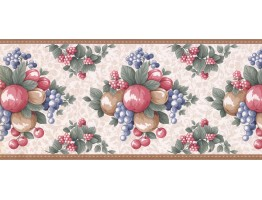 Prepasted Wallpaper Borders - Fruits Wall Paper Border LF3123B