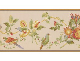 10 1/4 in x 15 ft Prepasted Wallpaper Borders - Birds Wall Paper Border LH2031B