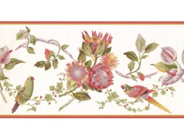 Prepasted Wallpaper Borders - Birds Wall Paper Border LH2032B
